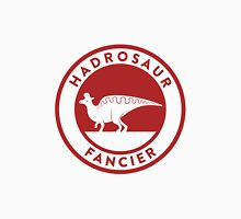 Hadrosaur Fancier (Red on White) Unisex T-Shirt