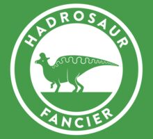 Hadrosaur Fancier (White on Dark) Kids Tee