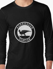 Hadrosaur Fancier (White on Dark) Long Sleeve T-Shirt