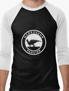 Hadrosaur Fancier (White on Dark) Men's Baseball ¾ T-Shirt