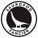 Sauropod Fancier (Black on Light) by David Orr