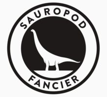 Sauropod Fancier (Black on Light) Kids Tee