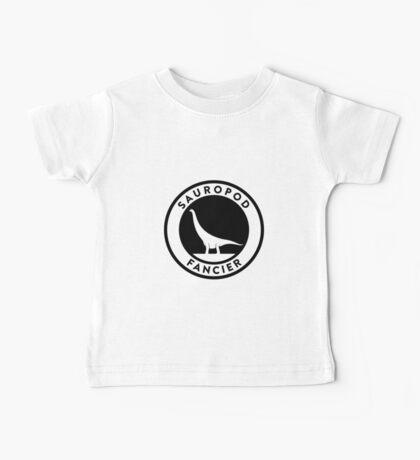 Sauropod Fancier (Black on Light) Baby Tee