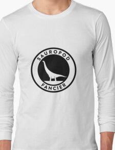 Sauropod Fancier (Black on Light) Long Sleeve T-Shirt