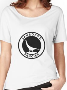 Sauropod Fancier (Black on Light) Women's Relaxed Fit T-Shirt