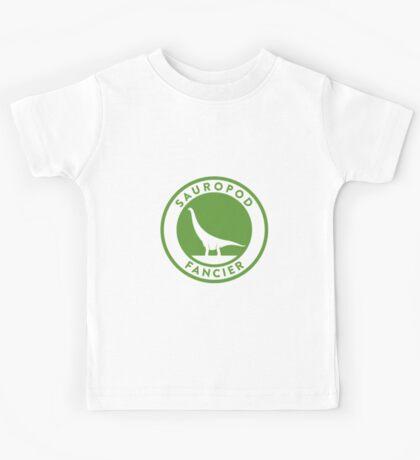 Sauropod Fancier (Green on White) Kids Tee