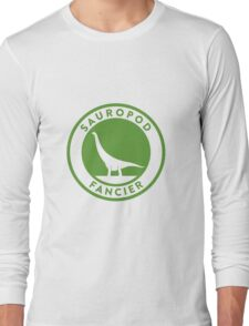 Sauropod Fancier (Green on White) Long Sleeve T-Shirt