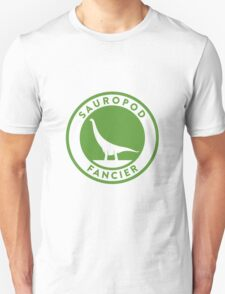 Sauropod Fancier (Green on White) T-Shirt