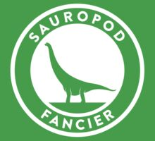 Sauropod Fancier (White on Dark) One Piece - Short Sleeve