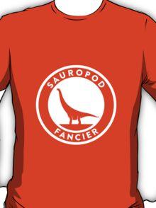 Sauropod Fancier (White on Dark) T-Shirt