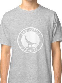Sauropod Fancier (White on Dark) Classic T-Shirt