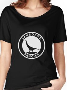 Sauropod Fancier (White on Dark) Women's Relaxed Fit T-Shirt