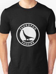 Sauropod Fancier (White on Dark) Unisex T-Shirt