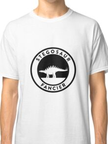 Stegosaur Fancier (Black on Light) Classic T-Shirt