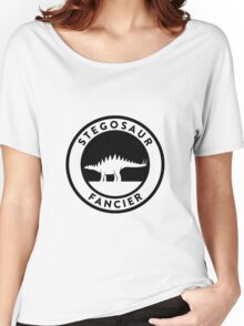 Stegosaur Fancier (Black on Light) Women's Relaxed Fit T-Shirt