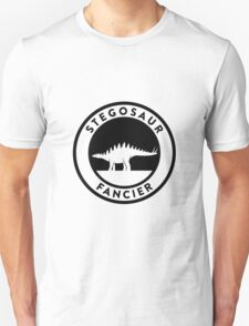 Stegosaur Fancier (Black on Light) Unisex T-Shirt