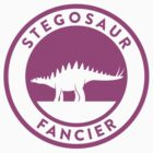 Stegosaur Fancier (Violet on White) by David Orr