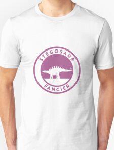 Stegosaur Fancier (Violet on White) Unisex T-Shirt