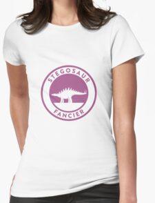 Stegosaur Fancier (Violet on White) Womens Fitted T-Shirt