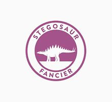 Stegosaur Fancier (Violet on White) Unisex T-Shirt