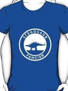 Stegosaur Fancier (White on Dark) T-Shirt