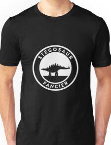 Stegosaur Fancier (White on Dark) Unisex T-Shirt