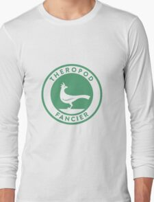 Theropod Fancier (Teal on White) Long Sleeve T-Shirt