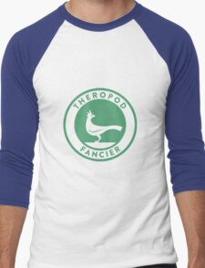 Theropod Fancier (Teal on White) Men's Baseball ¾ T-Shirt