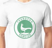 Theropod Fancier (Teal on White) Unisex T-Shirt