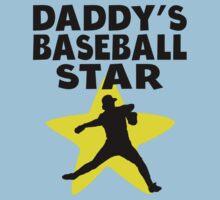 Daddy's Baseball Star Kids Tee