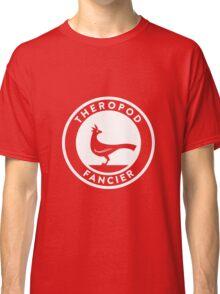 Theropod Fancier (White on Dark) Classic T-Shirt