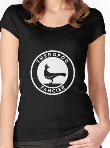 Theropod Fancier (White on Dark) Women's Fitted Scoop T-Shirt