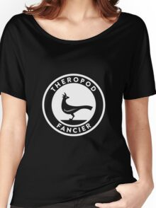 Theropod Fancier (White on Dark) Women's Relaxed Fit T-Shirt
