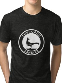 Theropod Fancier (White on Dark) Tri-blend T-Shirt