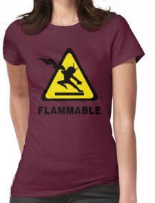 Flammable Joe Womens Fitted T-Shirt
