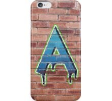 Graffiti Printed Letter A on wall iPhone Case/Skin