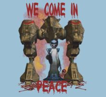 In Peace We Conquer .. tee shirt Kids Clothes