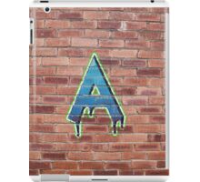 Graffiti Printed Letter A on wall iPad Case/Skin