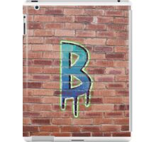 Graffiti Printed Letter B on wall iPad Case/Skin