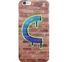 Graffiti Printed Letter C on wall iPhone Case/Skin