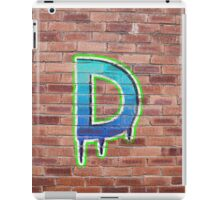 Graffiti Printed Letter D on wall iPad Case/Skin