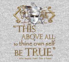 "Shakespeare Hamlet ""own self be true"" Quote Kids Tee"
