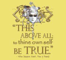 "Shakespeare Hamlet ""own self be true"" Quote Baby Tee"