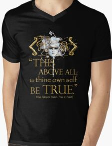 "Shakespeare Hamlet ""own self be true"" Quote Mens V-Neck T-Shirt"