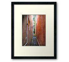 Just a Narrow NOLA Alley Framed Print