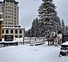 Chateau Lake Louise by Nancy Richard
