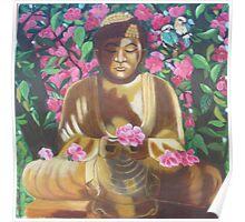 Meditating buddha. Poster