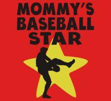 Mommy's Baseball Star Baby Tee