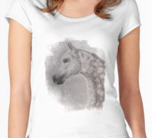 Arabian Horse - equine, equestrian, western art Women's Fitted Scoop T-Shirt