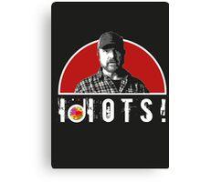 Supernatural Bobby IDIOTS! Canvas Print